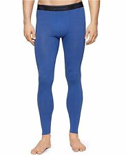 $85 CALVIN KLEIN Mens BLUE Stretch THERMAL BASE LAYER LONG JOHNS PANTS NM1227 XL