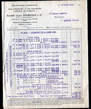 """VIERZON & GRACAY (18) SCIERIE PARQUETERIE / PARQUETS """"Louis SOURIOUX"""" en 1944"""