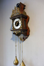Dutch Warmink Wuba Wall Clock Dutch Old Clock Vintage in Nutwood Antique