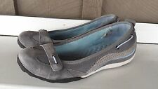 PRIVO CLARKS GRAY SUEDE LEATHER BREATHABLE FLAT WOMEN'S SHOE WALKING COMFORT 8.5