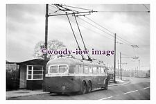 gw0101 - Rotherham Trolleybus no 8 at Brecks Lane in 1961 - photograph