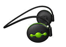 Avantree Jogger: Sweat Proof, Wireless Headphones for music and calling- BLK/GRN