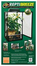 "Chameleon Screen Cage Reptibreeze Open Air Black Aluminum MED 16""x16""x30"" NT-11"