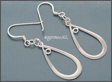 Sterling Silver Pear Earrings Chandelier Connector Ear wire set #51420