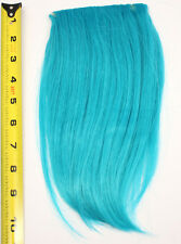 10'' Long Clip on Bangs Peacock Blue Cosplay Wig Hair Extension Accessory NEW