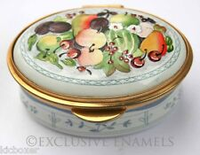 Staffordshire Enamels Platter of Fruit Enamel Box