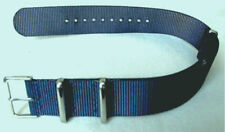 Blue Military Style 4 Ring Watch Strap!  22mm fits Seiko 6309, 7002, SKX007...