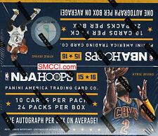 2015 16 Hoops NBA Basketball Series Factory Sealed Retail Box 24 Packs Autograph