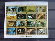 Briefmarken Block Welt Arabische Emirate Ajman Motiv Tiere Stamps Animals