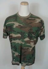 Super Thin Vtg Camo T Shirt Destroyed Paper XL XXL Hipster Trucker Motorcycle