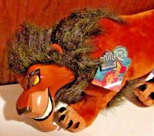 "LION KING Plush SCAR vinyl face stuffed animal 18"" long, Applause Disney w/tag"