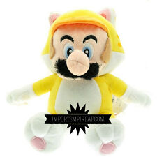 SUPER MARIO 3D CAT MARIO PELUCHE wii u pupazzo new plush gatto neko world doll