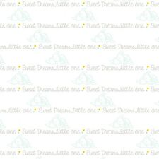 "Disney Dumbo Script ""Sweet Dreams Little One"" 100% cotton 43"" Fabric by the yard"