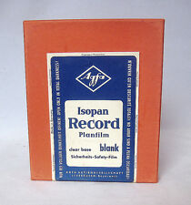 1964 Agfa Isopan Record Planfilm 10,2 x 12.7 cm (New ,Sealed,Unopened, Old Stock