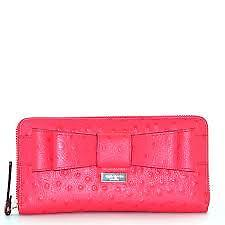 Kate Spade Wallet WLRU1799 Charm City Ostrich Neda Desert Rose by Agsbeagle