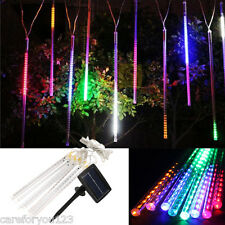 8*30cm 144-LED Solar Power Meteor Shower Rain Tubes Light Garden Christmas Lamp