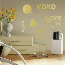 GOLD HEARTS XOXO 21 Wall Decals Arrows Love Room Decor Stickers Quote Bedroom 95