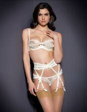 Agent Provocateur LACY SUSPENDER in  IVORY FRENCH LACE - AP Size 4  BNWT