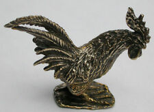 Solid Bronze Rooster miniature by N.Fedosov.