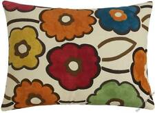 Orange/Red/Yellow/Green/Blue Pia Flower throw pillow cover/cushion cover 12x16""