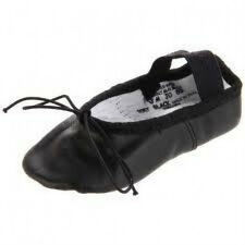 Capezio 205 Adult Size 10M (Fits 9.5) Black Daisy Full Sole Ballet Shoe