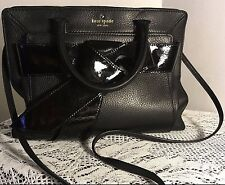 Kate Spade Handbag Bow Valley Mika Shoulder Bag in Black Leather & Patent $348