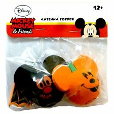 Disney Car Antenna Ball Toppers Mickey Mouse Pumpkin & Mickey Bat Halloween