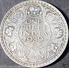 ✔✔ Very Rare - One Rupee India 1939 - George 6 Emperor Coin✔✔Check Description✔✔