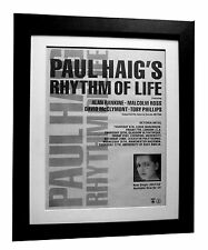 PAUL HAIG+Rhythm Of Life+POSTER+AD+RARE ORIGINAL 1983+FRAMED+EXPRESS GLOBAL SHIP