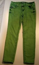 Soundgirl Green Low Rise Acid Washed Skinny Jeans Size 13 Juniors