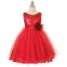 Flower Girl Infant Toddler Dress Birthday Wedding Pageant Bridesmaid Tulle