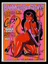 CP98-03 Coop Banned in Boston Coop Silkscreen Art Show Poster Sexy Devil Girl