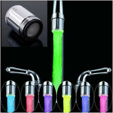 7 Color RGB Colorful LED Light Water Shower Spraying Head Faucet Bathroom LO
