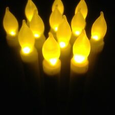 M.best Yellow Flicker LED Flameless Taper Candles (12) Battery Operated Candles