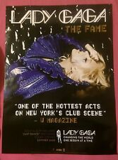 Lady Gaga Official The Fame Rare USA Promo Poster 24 x 18 - NEW out of print