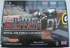LifeColor Acrílicos LC-CS35 Segunda Guerra Mundial Conjunto de Pintura RAF batalla de Gran Bretaña