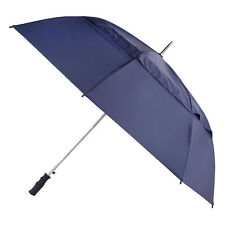 totes Auto Open Windproof Double Canopy Umbrella  Navy