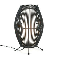 Metal and Bamboo Convex Slat Lamp
