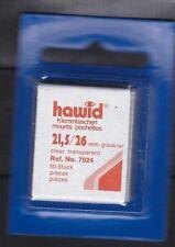 hawid 7024   50 Zuschnitte 21,5x26 mm glasklar