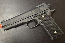 THE G20! Airsoft Hand Gun All Black Metal Frame Hard Hitting Air Soft Pistol