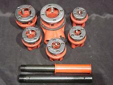 6 Piece RATCHETING DIE BSPT THREADER SET for Black Ridgid Gas or Galvanized Pipe