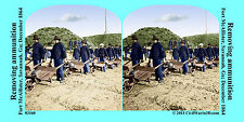 Fort McAllister Ammunition Artillery Civil War SV Stereoview Stereocard 3D 03160