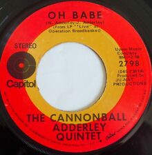 CANNONBALL ADDERLEY ~ OH BABE ~ SWEET BLUES vocal jazz 45 on CAPITOL ~ HEAR IT