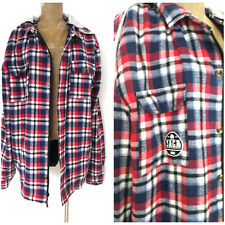 SAGA Snowboard Jacket Size XLarge Insulated Flannel Plaid Hoodie Coat Shirt