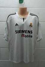 VINTAGE ADIDAS FOOTBALL REAL MADRID HOME SHIRT CAMIESTA JERSEY FIGO 2003/2004 XL
