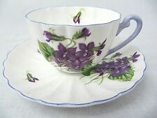 SHELLEY CUP AND SAUCER - LUDLOW SHAPE - VIOLETS 13821