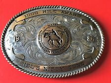 NATRC 1000 Mile Award Mel's Nifty Tune Sterling Front B-K 1986 Belt Buckle