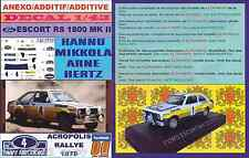 ANEXO DECAL 1/43 FORD ESCORT RS 1800 ROTHMANS H.MIKKOLA ACROPOLIS 1979 DnF (01)