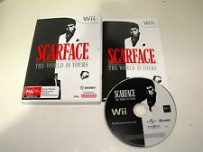 "Scarface The World Is Yours For Nintendo Wii ""Fast & Free Postage"""
