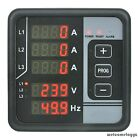 3 PHASE AC VOLTAGE FREQUENCY CURRENT ALARM MULTI-FUNCTIONS DIGITAL PANEL METER